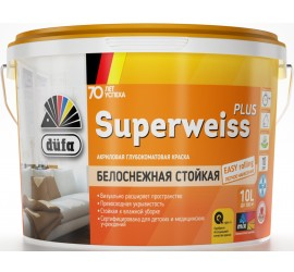 Краска ВД SUPERWEISS PLUS 2.5л DufaRetail - фото - 1